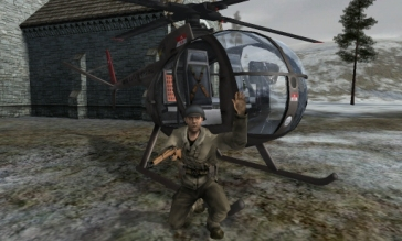 Spot solider by helicopter